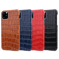 premium Crocodile pattern Genuine Leather Protective Case Ba...