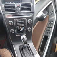 Pour Volvo XC60 2013-2018 Intérieur Panneau de commande central Poignée de porte 5D Stickers en fibre de carbone Stickers ACCESSORIE DE CYSTERIE DE VOITURE