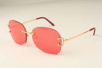 Sıcak Toptan Nötr Çerçevesiz Metal Güneş 4193829 Erkekler Yüksek kaliteli moda Güneş gözlüğü Ücretsiz Kargo Boyutu: 62-18-135mm