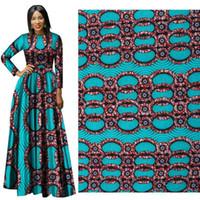vendita calda 100% poliestere stampe in cera tessuto Ankara Binta vera cera tessuto africano di alta qualità 6 metri per abito da festa
