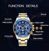 2021 TEVISE Moda Mens Automático Relógios Aço Inoxidável Homens Mecânicos MuristWatch Data Semana Exibir relógio masculino com caixa