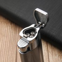 HONEST Windproof Strong Flame Cigarette Lighters Triple Fire Jet Metal Torch Lighter NO Gas Gadgets For Men Smoking Tool