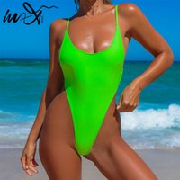 In- X Thong one piece swimsuit Sexy neon bikini 2019 High cut...