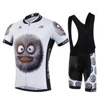 Uomo divertente sport dei cartoni animati in bicicletta bici Jersey manica corta sportivo pantaloncini Nuovo abbigliamento ciclismo Salopette