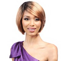 Hot selling women short hair wigs ombre color Bob wigs for A...