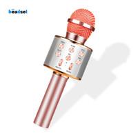 WS858 microphone karaoké sans fil haut-parleur professionnel consender poche micro enregistreur studio mikrofon radio microfone pour les smartphones