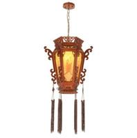 Estilo Chino palacio retro linternas de madera creativa del restaurante Sala de Estudio pendiente de la luz Tea House Balcón lámpara colgante LLFA