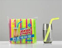 2000 Piezas 12 * 210mm Paja para beber extra ancha Flexible para batidos gruesos Boba Bubble Tea Smoothies Grasa Bebida Pajitas Desechables Café colorido
