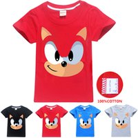 Sonic The Hedgehog gedruckt Kinder T-Shirts 4 Farben 3-12 t Jungen Mädchen 100% Baumwolle T-Shirt Kinder Designer Kleidung DHL SS311