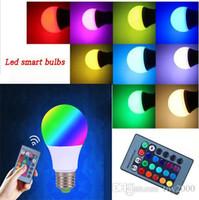 Lampadina LED RGB E27 3W 5W 10W Lampade LED Lampadina spot Lampadine a led Lampadine RGB 24Key IR Telecomando Home Luci natalizie