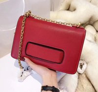 Fashion Lady Crossbody Flap Bag With Chain Metallic Leather ...