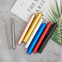 portable stainless steel telescopic drinking straw for trave...