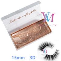 Top Quality 16 stili 15 millimetri 3D visone ciglia su misura Private Label morbida naturale siberiano visone ciglia lunghe sexy Fluffy ciglia