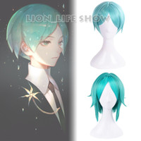 anime cosplay Anime Houseki no Kuni Land of the Lustrous Phosphophyllite Parrucca Cosplay Verde Capelli corti 2 Versione