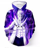 Yeni Moda Hoodies Anime Naruto 3D Baskı Erkek Kadın Spor Kazak Tasarımcısı Hoodie Kazak Uzun Kollu Streetwear LMS0106