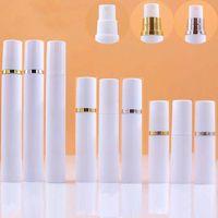 5ml 10ML 15ML bianco fine della foschia Mini Airless bottiglie di vuoto Spray per Lozioni Profumi, Vuoto Contenitori di materiale plastico con teste pompanti - Ricaricabile