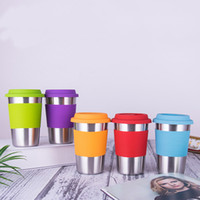 500ml Stainless Steel Coffee Mug Single Layer Beer Cup with ...