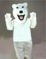 Hochwertige Custom Eisbär gehen Requisiten Puppe Maskottchen Kostüme Kleidung