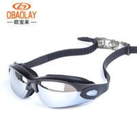Unisex Yetişkin Yüzme Gözlükler Su geçirmez UV Shield Anti-Fog Moda Kaplama Gözlükler Aynalı Spor Su Spor Gözlük