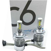 Новый светодиодный гаджет C6 фар автомобиля 12V 7600LM 6000K H4 H7 9003 H11 LED H1 H3 880 9005 9006 9004 9007 Н13 Автомобильные фары