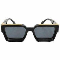 NOVO Luxo 1.1 MILIONASSOS ÓCULOS DE SOL homens mulheres full frame Designer Vintage MILIONÁRIO 1.1 óculos de sol Milionário Preto Logotipo Feito na Itália