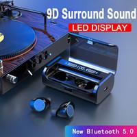 G06 Fone de ouvido Bluetooth Stereo TWS Negócios Bluetooth Headset sem fio LED de Alimentação Display Earbuds Com 4000mAh carga Box