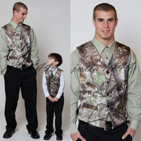 Camo impresso veste coletes caçador coletes de casamento camuflagem fina ajuste homens coletes 2 peças conjunto (colete + gravata) feito sob encomenda