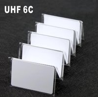 Högkvalitativ Blank Long Räcke UHF H3 Gen2 PVC RFID Smart Inkjet Card Inkjet PVC UHF-kort för parkering System Dörråtkomstkontroll 1000PCS