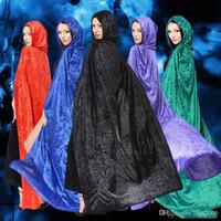 Sorcerer Death Cloak Disfraces de Halloween Halloween Cosplay Theatre Prop Death Hoody Cloak Devil Mantle Adult and Children Capa con capucha