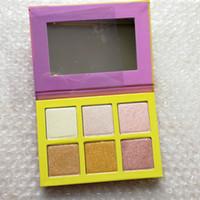 Private Label Palette Maquillage surligneur 6 couleurs palette Poudre Pressée cosmétiques Visage Contour Sans étiquette Maquillage surligneur poudre visage