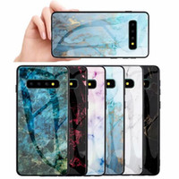 Marble Tempered Glass Hard Case Soft TPU Side Gradient Dual ...