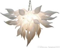 Lampadari Lampadri bianchi Murano Lampadari China Fornitore Blown Blown Lampadario in vetro per la decorazione dell'arte Lampadine LED