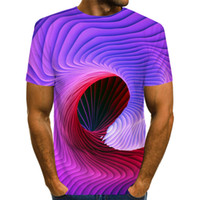 3D Funny Psychedelic Print T Shirts Hipster Casual Short Sle...