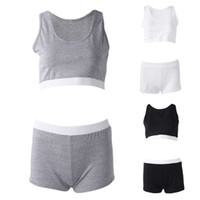 Femmes Sexy Bodycon 2 Pièce Outfit Deep Scoop Neck Crop Top Mi Taille Shorts Couleur Unie Sportsuit Yoga Fitness Activewear