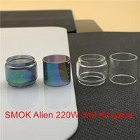 SMOK estrangeiro 220W 3 ml Kit de substituição bulbo de vidro Tubo fatboy 5ml bolha Convex normal de vidro transparente do arco-íris