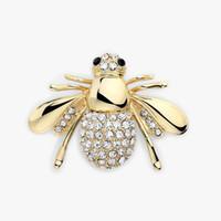 Bee brosch kristall insekter tema djur mode guld färg europeisk och amerikansk personlighet djur smycken söt bee brosch rhinestone brooc