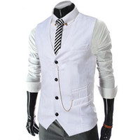 Hot New Arrive Spring Business Men' s Suit Vest Metal Ch...