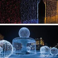 1600 LED lumières 10 * 5m Rideau Lumières, LED Star String Fée String Light Festival Noël Flash Light, pour la Décoration De Mariage De Fête