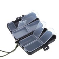 Accessori per la pesca Plastica Carp Tackle Box Eli Bait Stoccaggio Caso 9 scomparto Scatole Pesca Gamberetti in silicone