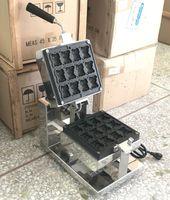Ücretsiz Kargo 12 adet Mini Yavru Ayı Waffle Yapımı makinesi 1600W Ticari karikatür waffle makinesi