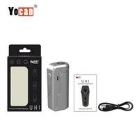 Yocan uni box mod start repape аккумулятор 650mah Предварительно нагревая Переменное напряжение VV Vape Mods с адаптером магнитного 510 для толстого масляного картриджа