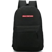 Jonas Brothers backpack حقيبة مدرسية لفترة أطول قليلاً Hot school bag حقيبة روك باند packsack أوقات الفراغ حقيبة الظهر الرياضة المدرسية daypack day