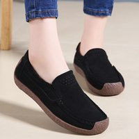 Women Ankle Flat Loafers Slip On Flock Roman Casual Shoes Ca...