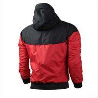 Marca Felpa con cappuccio Windrunner donne degli uomini del rivestimento del cappotto manica lunga con logo Autunno Sport Zipper Windcheater Designer Mens Abbigliamento Plus S.