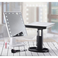 LED Touch Screen Makeup Mirror Table Desktop 10X Magnifying ...
