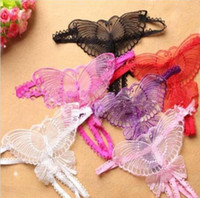 Schmetterling Sexy ouvert Lace Micro Frauen öffnen Thongs g Strings Transparent Damen Höschen Sexy Unterwäsche Femme Ouvert