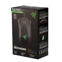 Razer Deathadder Chroma USB com fio óptico computador jogos mouse 10000dpi sensor óptico rato rato mouse deathadder gaming ratos