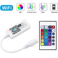 Bluetooth WiFi controlador Wireless Magic Home RGB / RGBW IR RF LED Controlador DC5V 12V 24V Controle Remoto IOS para tiras de iluminação LED