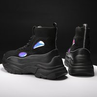New Trend Men Sneakers Thick Sole Platform Running Shoes for...