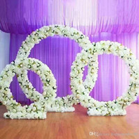 1 set wedding arch + silk artificial flower DIY party hotel ...